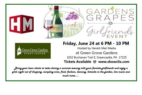 Gardens, Grapes & Girlfriends ~ June 24th