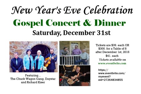 New Year's Eve Gospel Concert & Dinner